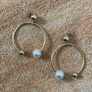 Shashi pearl statement earrings